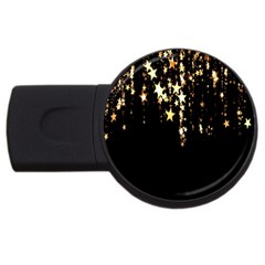 Christmas Star Advent Background USB Flash Drive Round (2 GB)