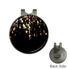 Christmas Star Advent Background Hat Clips with Golf Markers