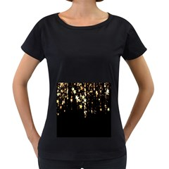 Christmas Star Advent Background Women s Loose-Fit T-Shirt (Black)