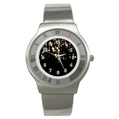 Christmas Star Advent Background Stainless Steel Watch