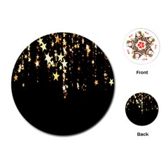 Christmas Star Advent Background Playing Cards (Round)