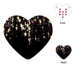 Christmas Star Advent Background Playing Cards (Heart)