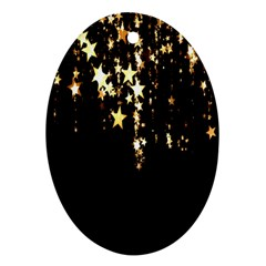 Christmas Star Advent Background Oval Ornament (Two Sides)