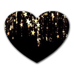 Christmas Star Advent Background Heart Mousepads