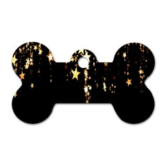 Christmas Star Advent Background Dog Tag Bone (One Side)