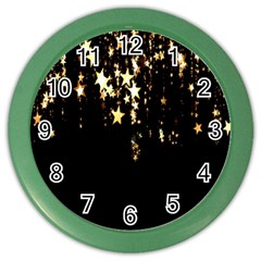 Christmas Star Advent Background Color Wall Clocks