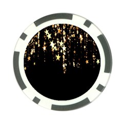 Christmas Star Advent Background Poker Chip Card Guard (10 pack)