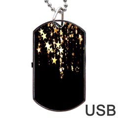 Christmas Star Advent Background Dog Tag Usb Flash (two Sides)