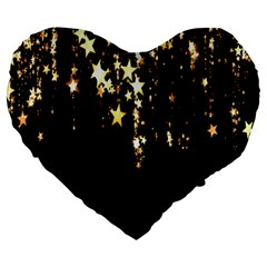 Christmas Star Advent Background Large 19  Premium Heart Shape Cushions