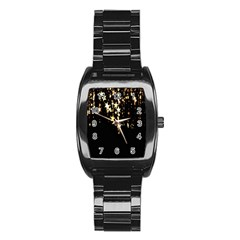 Christmas Star Advent Background Stainless Steel Barrel Watch