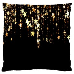 Christmas Star Advent Background Large Flano Cushion Case (One Side)