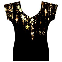 Christmas Star Advent Background Women s V-Neck Cap Sleeve Top