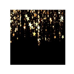Christmas Star Advent Background Small Satin Scarf (Square)