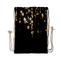 Christmas Star Advent Background Drawstring Bag (small)