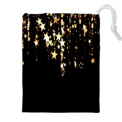Christmas Star Advent Background Drawstring Pouches (XXL)