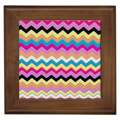 Chevrons Pattern Art Background Framed Tiles