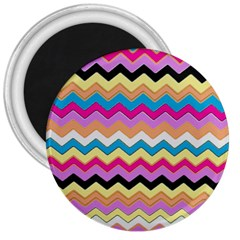 Chevrons Pattern Art Background 3  Magnets