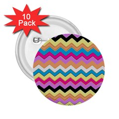 Chevrons Pattern Art Background 2.25  Buttons (10 pack)