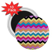 Chevrons Pattern Art Background 2.25  Magnets (10 pack)