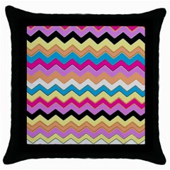 Chevrons Pattern Art Background Throw Pillow Case (Black)