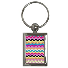 Chevrons Pattern Art Background Key Chains (Rectangle)
