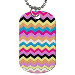 Chevrons Pattern Art Background Dog Tag (Two Sides)
