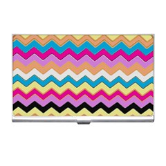 Chevrons Pattern Art Background Business Card Holders