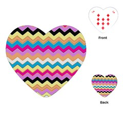 Chevrons Pattern Art Background Playing Cards (Heart)