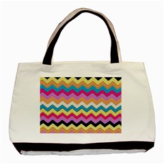 Chevrons Pattern Art Background Basic Tote Bag