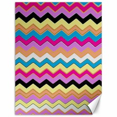 Chevrons Pattern Art Background Canvas 12  x 16
