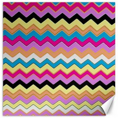 Chevrons Pattern Art Background Canvas 16  x 16