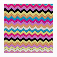 Chevrons Pattern Art Background Medium Glasses Cloth (2-Side)
