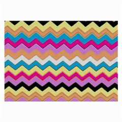 Chevrons Pattern Art Background Large Glasses Cloth (2-Side)