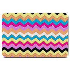Chevrons Pattern Art Background Large Doormat