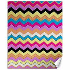 Chevrons Pattern Art Background Canvas 11  x 14