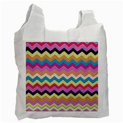 Chevrons Pattern Art Background Recycle Bag (One Side)