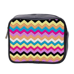 Chevrons Pattern Art Background Mini Toiletries Bag 2-Side