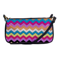 Chevrons Pattern Art Background Shoulder Clutch Bags