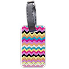 Chevrons Pattern Art Background Luggage Tags (Two Sides)
