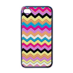 Chevrons Pattern Art Background Apple iPhone 4 Case (Black)