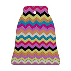 Chevrons Pattern Art Background Ornament (Bell)