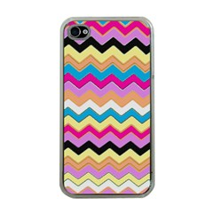 Chevrons Pattern Art Background Apple iPhone 4 Case (Clear)
