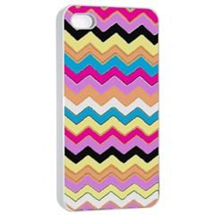 Chevrons Pattern Art Background Apple iPhone 4/4s Seamless Case (White)