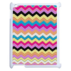 Chevrons Pattern Art Background Apple iPad 2 Case (White)