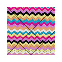 Chevrons Pattern Art Background Acrylic Tangram Puzzle (6  x 6 )