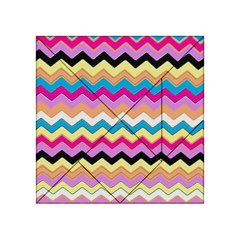 Chevrons Pattern Art Background Acrylic Tangram Puzzle (4  x 4 )