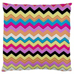 Chevrons Pattern Art Background Large Cushion Case (Two Sides)