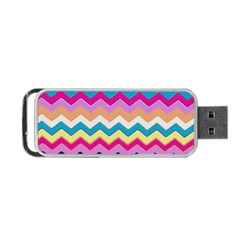 Chevrons Pattern Art Background Portable Usb Flash (two Sides)
