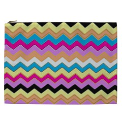Chevrons Pattern Art Background Cosmetic Bag (XXL)