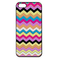 Chevrons Pattern Art Background Apple Iphone 5 Seamless Case (black)